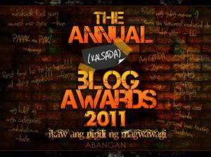 Ano ang TABA 2011 : The Annual Kalsada Blog Awards. Year 2!